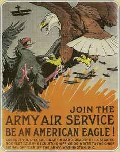 Recruiting Poster-United States Army Air Service (Circa 1918) by Custom_Cab, via Flickr
