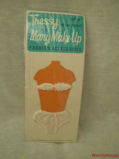 VINTAGE PALITOY TRESSY/MARY MAKE-UP DOLL CARDED UNDERWEAR MOC- FREE UK P & P #4 | 14.99