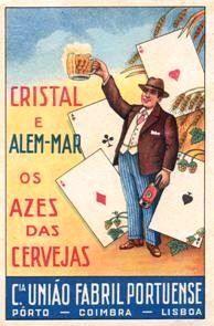 Cerveja Cristal e Além Mar - Cª União Fabril Portuense Posters Vintage, Vintage Advertising Posters, Vintage Postcards, Vintage Advertisements, Vintage Ads, Old Scool, Beer Art, Vintage Classics, Poster Ads