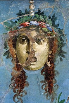 "signorformica: "" Pompeii, I AC Bibliothèque Infernale on FB "" Ancient Pompeii, Pompeii And Herculaneum, Ancient Art, Ancient History, Rome Painting, Mask Painting, Fresco, Roman Sculpture, Renaissance Paintings"