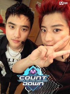 D.O, Chanyeol - 160623 Mnet M! Countdown twitter update Credit: Mnet. (엠넷 엠! 카운트다운)