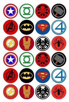 24 x Superhero Logos Edible Cupcake Toppers Pre-Cut in Home & Garden, Parties, Occasions, Cake Logo Avengers, Marvel Logo, Superhero Symbols, Avengers Symbols, Marvel Superhero Logos, Logo Maker, Nurses Week Quotes, Edible Cupcake Toppers, Fondant Cupcakes