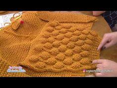Balloon Cardigan, Ponchik Cardigan, How to make raspberry knitting pattern cardigan? Crochet Hooded Scarf, Crochet Cardigan Pattern, Crochet Shirt, Sweater Knitting Patterns, Knitting Stitches, Knit Patterns, Knit Crochet, Diy Crafts Knitting, Easy Knitting