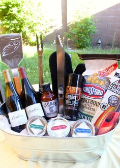 Need a gift idea for dad? Father's Day Man Bucket DIY with 3 BBQ Seasoning Recipes