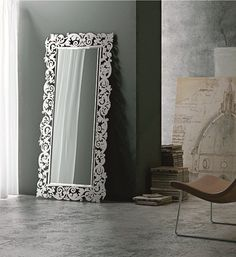 Framed #mirror ROMANTICO by RIFLESSI