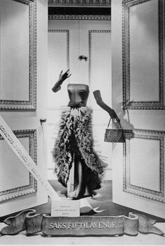 Vintage window display for Saks Fifth Avenue