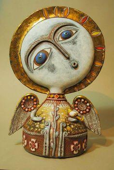 adelaparvu.com despre obiecte de arta din ceramica, ceramica pictata, ingeri din ceramica, artist Aram Hunanyan (15)