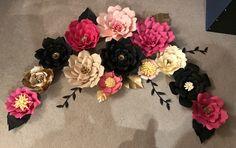 Kate Spade inspired paper flowers