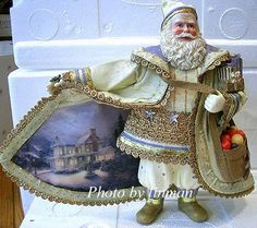 Thomas Kinkaid's Christmas Snowfall Santa Thomas Kinkade Art, Thomas Kinkade Christmas, Santa Ornaments, How To Make Ornaments, Thomas Kincaid, Art Thomas, Christmas Holidays, Merry Christmas, The Incredibles