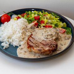 Nom Nom, Pork, Food And Drink, Rice, Meat, Chicken, Kale Stir Fry, Pork Chops, Laughter