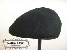 e30bd123c31c2 Boina de paño. Color negro. Talle 57. Boris Vian Sombreros.