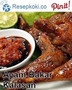 Resep Ayam Bakar Kalasan Chicken Menu, Chicken Wing Recipes, How To Cook Chicken, Duck Recipes, Asian Recipes, Indonesian Cuisine, Indonesian Recipes, Malaysian Food, Asian Cooking