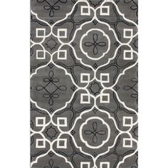 Elegance Grey Moroccan Inspire Rectangular: 8 Ft. 3 In. X 11 Ft. Rug Area Rugs Rugs Home