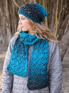 ANNIE'S SIGNATURE DESIGNS: Her Scarfie & Hat Crochet Pattern designed by Lena Skvagerson for Annie's. Order here: https://www.anniescatalog.com/detail.html?prod_id=132927&cat_id=362