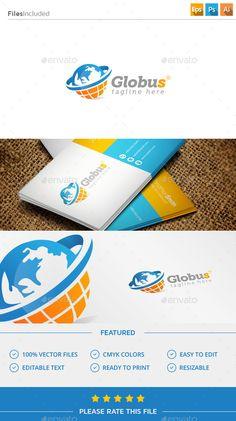 Globe  Logo Design Template Vector #logotype Download it here: http://graphicriver.net/item/globe-logo/11447493?s_rank=846?ref=nexion