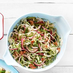 Tangy Collard and Cabbage Slaw  ~ very good recipe from CountryLiving.com