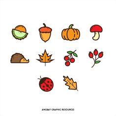 Autumn Season Icon Set