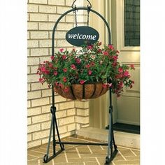 Cobraco Welcome Garden Hanging Basket Planter