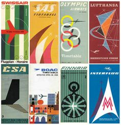 Airline graphics from the time when travel by air was an experience rather than an endurance