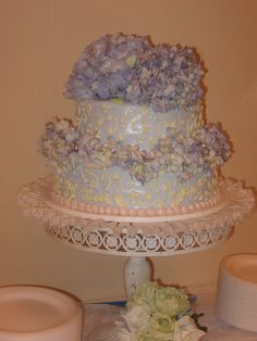 Adding the hydrangeas on top made the cake !