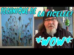 SUPERBE TECHNIQUE EN ACRYLIQUE FLUIDE, *LA FICELLE* WOW - YouTube