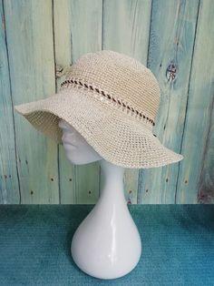 f222d01fafc79 White raffia hat wide-brimmed - Crochet packable sun hats with ribbon for  womens - Summer raffia hats. Floppy Straw ...