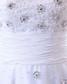 Satin Tulle Sleeveless Beading Natural Wedding Dress  Read More:    http://weddingspurple.com/index.php?r=satin-tulle-sleeveless-beading-natural-wedding-dress.html