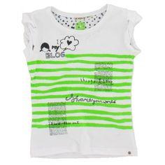 No-No - T-shirt Blog wit groen