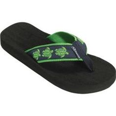 Women's Tidewater Sandals Sea Turtles Navy/Green Oh I must find these!!!!