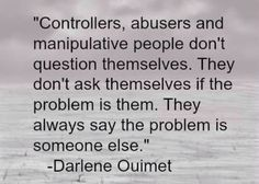 Custody, child support, court orders, financial abuse, parental alienation: these are all forms of manipulation and abuse. Using them for personal gain is abuse. How are your actions in the best interest of the children? 1-13-14. Your time of abuse and control of the children is running out.