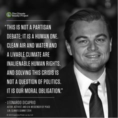 Climate change is not a political issue. It's a people & a planet issue. #ActOnClimate