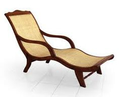 Teak  Wicker Rattan Capri Lounger