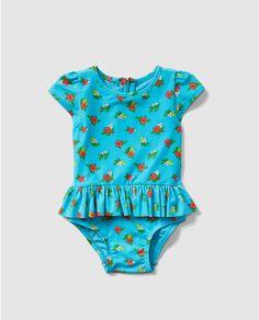 Bañador de bebé niña Gap en azul con flores