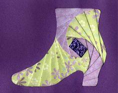#Iris folding, ladies shoe