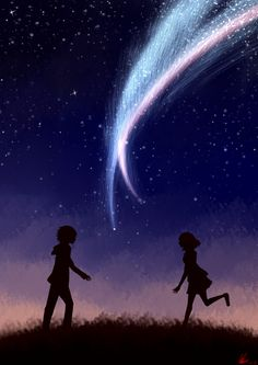 i did a new fanart of your name :3 i mean it's not great but BETTER than the first one :3