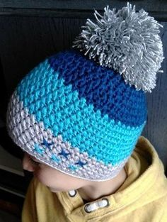 Exceptional Stitches Make a Crochet Hat Ideas. Extraordinary Stitches Make a Crochet Hat Ideas. Crochet Hats For Boys, Crochet Baby Beanie, Crochet Cap, Crochet Baby Clothes, Love Crochet, Crochet Designs, Crochet Patterns, Crochet Stitches For Beginners, Crochet Winter