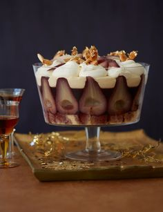 Mulled wine pear trifle - Sainsbury's Magazine