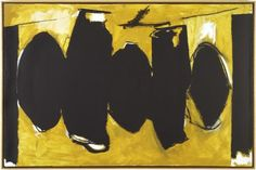 Elegy to the Spanish Republic #167 (Spanish Earth Elegy), a painting by Robert Motherwell
