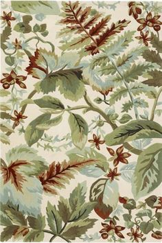 green leaf pattern area rug - Home Decor Tropical Area Rugs, Tropical Home Decor, Floral Area Rugs, Nautical Rugs, Floors And More, Synthetic Rugs, Buy Rugs, Modern Area Rugs, Wool Area Rugs