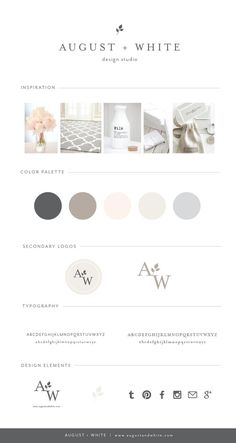 Brand Reveal: August + White Design Studio | Branding | Business Branding | Brand Board Ever wonder how designers create their own branding? Today I would like to take you through the process for when I rebranded earlier this year.