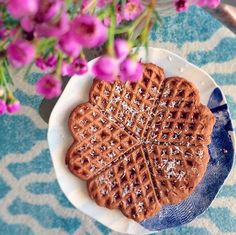 Perfect Fit Protein Waffles with unsweetened coconut flakes in the batter and as a topping. Shared by rach_toneitup.