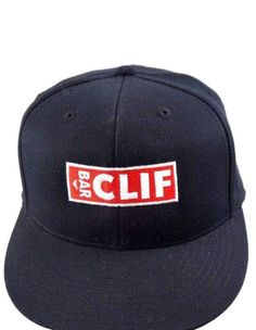 9ab77a5be24 CLIF BAR BASEBALL STYLE CAP HAT 210 FITTED FLEXFIT 6 7 8 - 7 1 4 BLACK