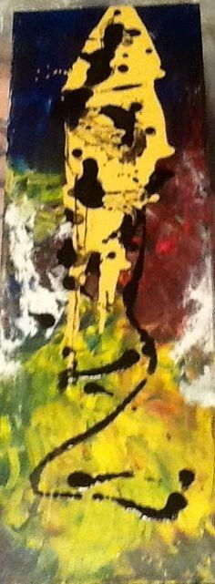 """""""Fish"""" Acrylic and Indian Ink 10x30 Original Works. Debra Arvizu Artwork /FB  @DAArtwork"""