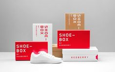 Redberry is a factory footwear store located in Mexico that sells branded footwear at affordable prices. The branding created by Anagrama, is reminiscent of a raspberry. Label Design, Box Design, Package Design, Graphic Design, Brand Packaging, Box Packaging, Product Packaging, Identity Design, Brand Identity