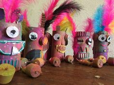 The ARTiFun workshops - plastic arts and creative leisure workshop in Guadeloupe: DANCING PUPPETS yépaaaa! Plastic Art, Cardboard Tubes, Puppets, Workshop, Creative, Bird Puppet, Atelier, Sock Puppets