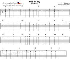Ode To Joy Easy For Beginners Guitar Tab - for Abby @deanna hughes Johnson by Birgit J & @Laura Jayson Jayson Jones
