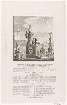 Standbeeld voor Wilhelmina van Pruisen, 1786, anonymous, 1786