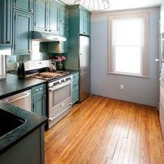 Turquoise Color For Small Kitchen  Affordable Small Kitchen
