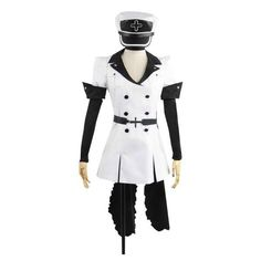akame ga kill ❤ liked on Polyvore featuring costumes, cosplay costumes, white wig costume, role play costumes, white costumes and animal halloween costumes