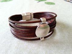 Items similar to Leather Bracelet,Beads Bracelet Uno de 50 Style,Boho Bracelet Zamak,Silver Bracelet,Tribal Bracelet Magnetic Clasp on Etsy Tribal Bracelets, Bracelets For Men, Silver Bracelets, Jewelry Bracelets, Silver Ring, Bracelet Charms, Leather Necklace, Leather Jewelry, Leather Accessories